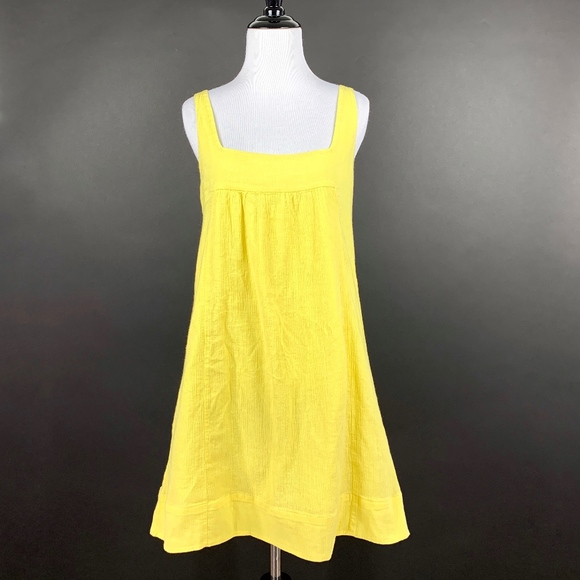 Anthropologie Dresses & Skirts - Maeve Anthropologie Tank Mini Dress A-Line Yellow
